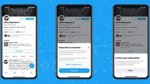 Twitter afina detalles para lanzar las newsletters de los usuarios
